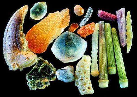 sand magnified 4x
