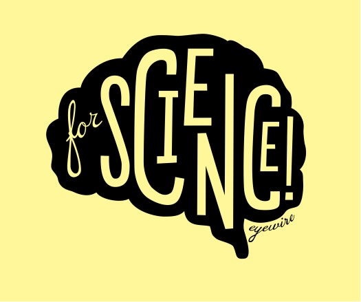 for science eyewire black on yellow, for science, eyewire, brain, design