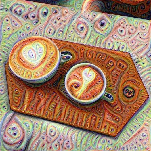 deep dream, coffee, San Francisco, M