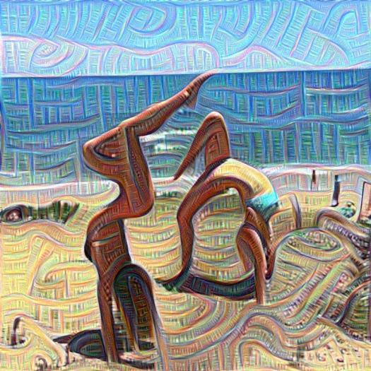 deep dream, AI, instagram, yoga
