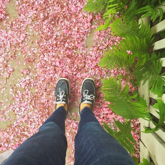 instagram, sidewalk, feet, flowers, deep dream